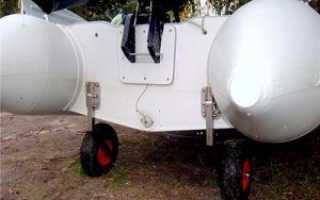 Транцевые колеса быстросъемные для лодок пвх
