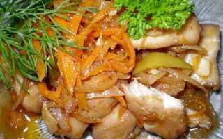 Хе из щуки по корейски с морковью