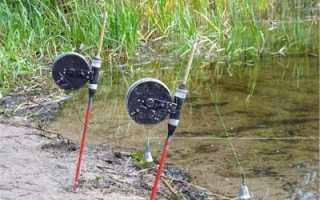 Рыбалка на резинку с берега