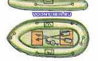 Резиновая лодка двухместная
